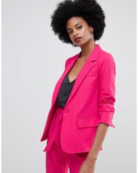 Oasis - Crepe Tailored Blazer In Pink - Lyst
