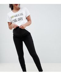 New Look - Super Soft Over Bump jeggings In Black - Lyst