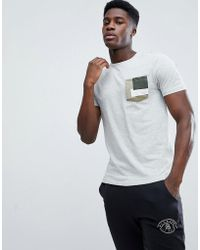 Only & Sons - T-shirt With Printed Pocket - Lyst