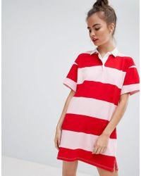 Pull&Bear - Stripe Rugby Dress - Lyst