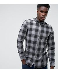 Jack & Jones | Originals Overshirt In Regular Fit Check With Zip Through | Lyst