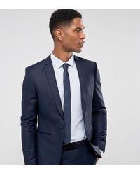Noak - Super Skinny Suit Jacket In Navy - Lyst