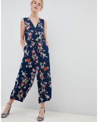 Soaked In Luxury - Floral Wrap Occasion Jumpsuit - Lyst