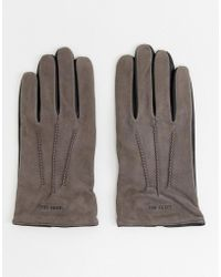 Ted Baker - Balo Gloves In Suede - Lyst