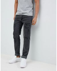 D-Struct - Skinny Destroyed Ripped Jeans - Lyst
