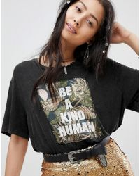 Native Rose - Festival Relaxed T-shirt With Be Kind Embroidered Panel - Lyst