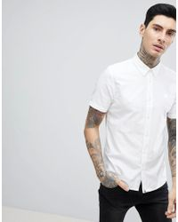Pretty Green - Stearling Oxford Short Sleeve Shirt In White - Lyst