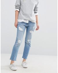 Hilfiger Denim - Tommy Lana Straight Crop Jean With Rips - Lyst
