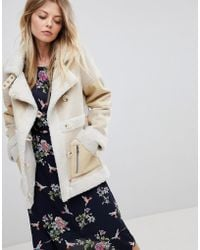 Oasis - Shearling Coat - Lyst
