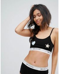 Wildfox - Heart & Star Bralette With Logo - Lyst