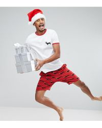 ASOS - Pyjama Set With Christmas Dog Print - Lyst
