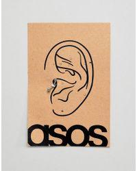 ASOS - Design Stainless Steel Tragus Piercing - Lyst