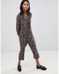 Whistles - Peony Print Relaxed Jumpsuit - Lyst