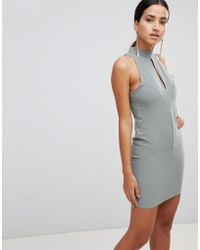 Love - Key Hole Bodycon Dress - Lyst