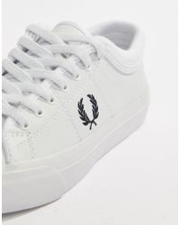 Fred Perry - Spencer Leather Trainer With Logo Crest - Lyst