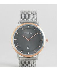 Sekonda - Mesh Watch In Silver/rose Gold Exclusive To Asos - Lyst