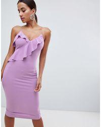 AX Paris - Cami Midi Dress With Ruffle Detail - Lyst