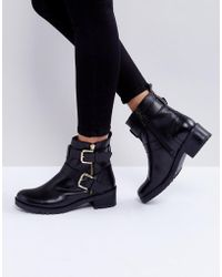 Faith - Betsy Leather Biker Boots - Lyst