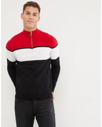 New Look - Jumper With Funnel Neck In Red - Lyst