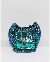Pull&Bear - Sequin Bucket Bag - Lyst