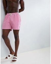 Barbour - Milton Swim Short In Pink - Lyst