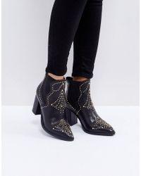 Steve Madden - Himmel Studded Heeled Boots - Lyst