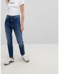 Pepe Jeans - Betty High Waist Slim Mom Jean - Lyst