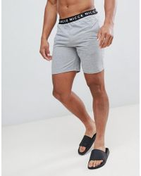 Nicce London - Nicce Lounge Shorts In Grey With Waistband - Lyst