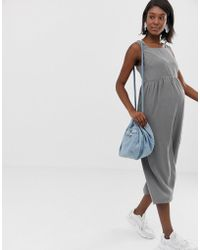ce408905534c ASOS - Asos Design Maternity Minimal Jumpsuit With Ruched Waist - Lyst