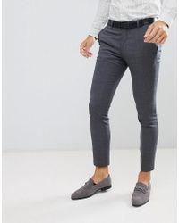 Jack & Jones - Premium Suit Trouser In Super Slim Fit Grey - Lyst