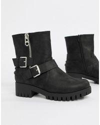 Blink - Biker Ankle Boots - Lyst