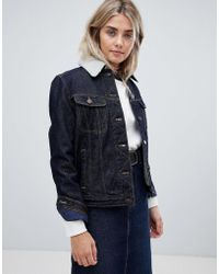 Lee Jeans - Denim Jacket With Fce Lining - Lyst