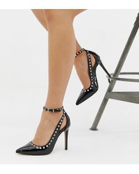 ASOS - Persuade Studded Pointed High Heels - Lyst