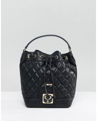 Love Moschino - Quilted Bucket Bag - Lyst