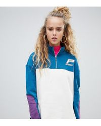 cfff84a502 PUMA - Sweat-shirt en coton bio demi-fermeture clair exclusivit ASOS - Lyst