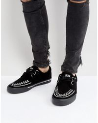 T.U.K. - Suede Creeper Shoes - Lyst