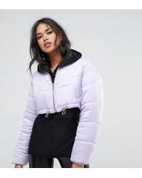 Missguided - Padded Cropped Jacket - Lyst