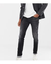 Blend - Distressed Slim Fit Jeans In Washed Black - Lyst