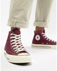 8987fc1ed5a4 Converse - Chuck Taylor All Star  70 Hi Trainers In Burgundy 162051c - Lyst