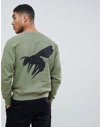 Abuze London - Abuze Ldn Script Logo Back Print Sweater - Lyst