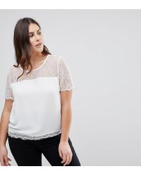 Lipsy - Lace Top - Lyst