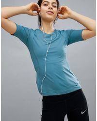 Nike - Pro Training Hypercool Tee In Blue - Lyst