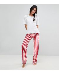 ASOS | Embroidered Espresso Yourself Trouser & Tee Pyjama Set | Lyst