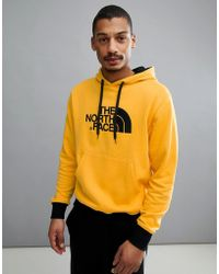 The North Face - Drew Peak Pullover Hoodie In Yellow - Lyst