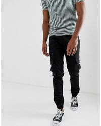 Threadbare Slim Cuffed Cargo Trousers