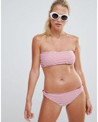 French Connection - Striped Bikini Set - Lyst