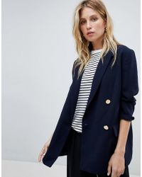 Whistles - Double Breasted Blazer - Lyst