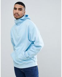 ASOS - Oversized Hoodie With Deep Modesty V - Lyst