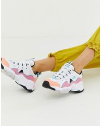 Skechers - D'lite Chunky Trainers 3.0 In Pastel - Lyst
