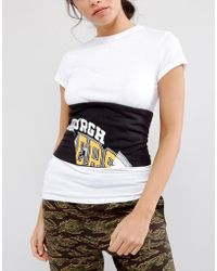 ASOS - Asos Printed Paneled Fabric Corset Belt - Lyst